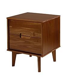 Mid Century Modern Wood Nightstand