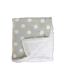 3Stories Dotted Mink Sherpa Baby Blanket