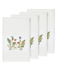 Turkish Cotton Serenity 4-Pc. Embellished Hand Towel Set