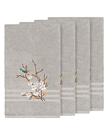 Turkish Cotton Springtime 4-Pc. Embellished Bath Towel Set