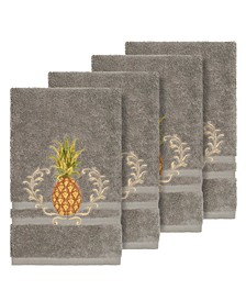 Turkish Cotton Welcome 4-Pc. Embellished Hand Towel Set