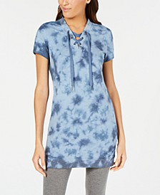 Tie-Dyed Lace-Up Tunic, Created for Macy's