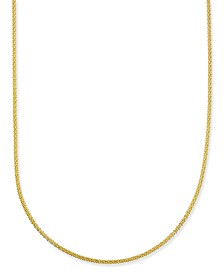 """Giani Bernini 24"""" Chain Necklace Set in 18k Gold-Plate Over Sterling Silver, Created for Macy's"""