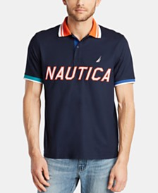 Nautica Men's Classic Fit Logo Graphic Polo