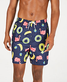 """Trunks Surf & Swim Co. Men's Pool Float-Print 6"""" Swim Trunks"""