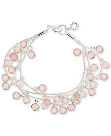 Anne Klein Stone Triple-Row Shaky Bracelet