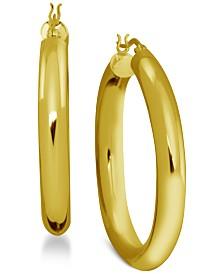 Essentials Polished Tube Hoop Earrings