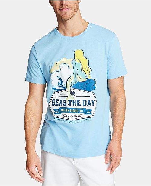 Nautica Men's Lost At Sea Graphic T-Shirt, Created for Macy's