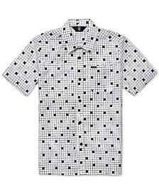 Volcom Big Boys Crossed Up Classic-Fit Tile-Print Shirt