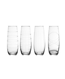 Jay Imports Stemless Flutes - Set of 4