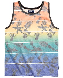 Univibe Big Boys Colton Ombré Tropical Stripe Tank