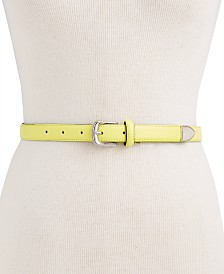 Calvin Klein Skinny Metal Tip Leather Belt