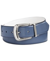 fe113a23a97 Calvin Klein Leather Reversible Western Belt