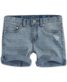 Levi's® Little Girls Distressed Denim Shorts