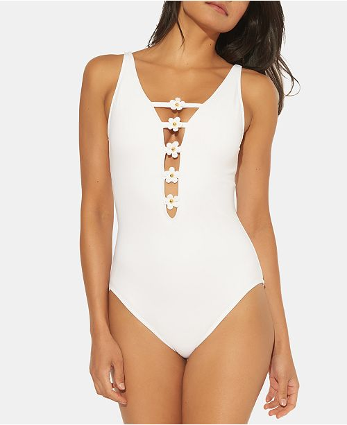Bleu by Rod Beattie Plunging One-Piece Swimsuit