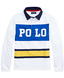 Polo Ralph Lauren Big Boys Cotton Jersey Graphic Rugby Shirt