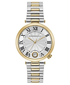 Ladies Round Two Tone Stainless Steel Bracelet with T Bar Attachment Watch, 38mm
