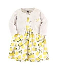Dress and Cardigan Set, 0-24 Months