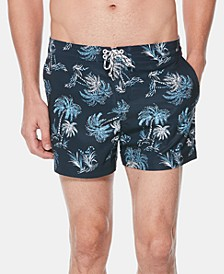 Men's Palm Tree Graphic Swim Trunks