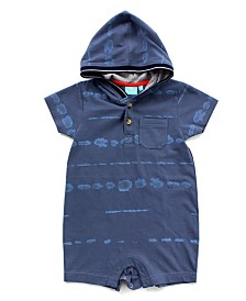 Baby Boy Printed Hooded Romper