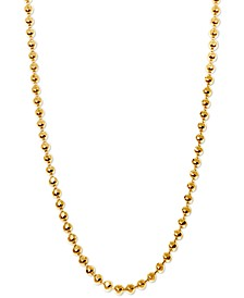 "20"" Ball Chain Necklace in 14k Gold"