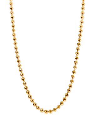 "Image of Alex Woo 20"" Ball Chain Necklace in 14k Gold"