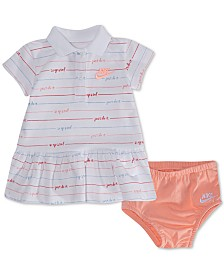 Nike Baby Girls Striped Polo Dress