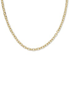 "24"" Oval Rolo Chain Necklace in 18k Gold Over Sterling Silver"