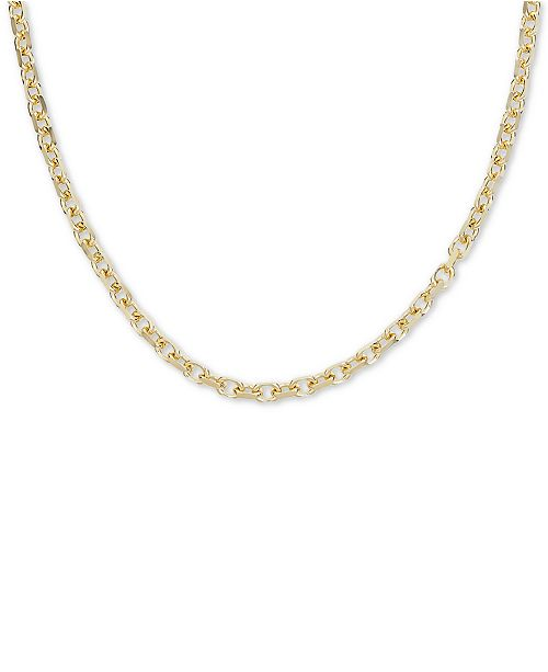 """Macy's 24"""" Oval Rolo Chain Necklace in 18k Gold Over Sterling Silver"""