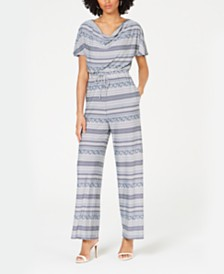 John Paul Richard Petite Printed Jumpsuit