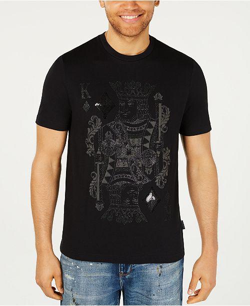 Sean John Men's Beaded King Card T-Shirt