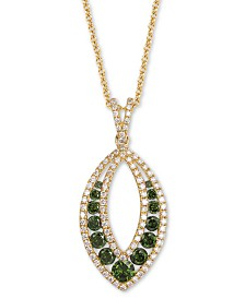 "Le Vian Exotics® Diamond 18"" Pendant Necklace (7/8 ct. t.w.)  in 14k Gold"