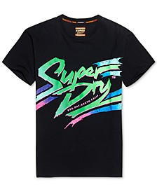 Men's Acid Textured Logo Graphic T-Shirt