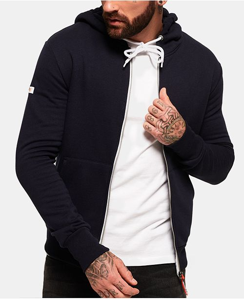 ca642c73db53 Superdry Men's L.A. Athletics Navy Full-Zip Hoodie & Reviews ...