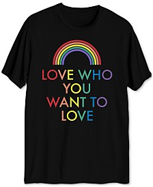 Pride Collection Love Who You Want Men's Graphic T-Shirt