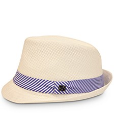 Men's 2-Stripe Knot Straw Hat, Created for Macy's