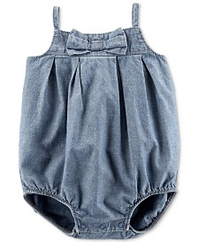Carter's Baby Girls Cotton Chambray Bubble Bodysuit