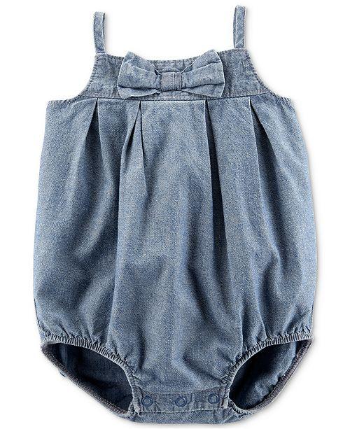 Carter's Baby Girls Cotton Chambray Bubble Bodysuit