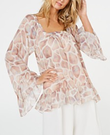 Rachel Zoe Filippa Printed Top