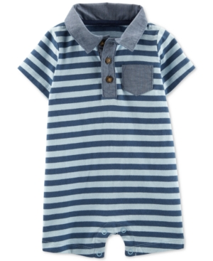 Carter's Baby Boys Rugby-Stripe Cotton Romper