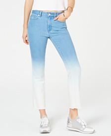 MICHAEL Michael Kors Ombre Cropped Skinny Jeans