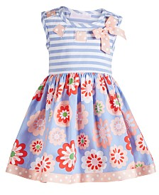Bonnie Baby Baby Girls Periwinkle Striped Dress