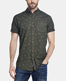Weatherproof Vintage Men's Regular-Fit Garment-Dyed Floral-Print Poplin Shirt