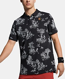 Nike Men's Court Printed Tennis Polo