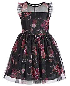 Big Girls Printed Mesh Dress