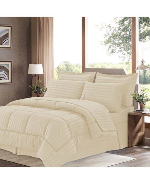 Sweet Home Collection Dobby Embossed Twin 6-Pc Comforter Set