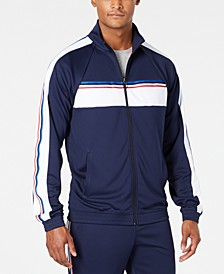 Men's Striped Track Jacket, Created for Macy's