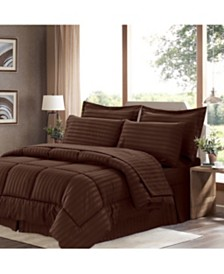 Sweet Home Collection Dobby Embossed King 8-Pc Comforter Set