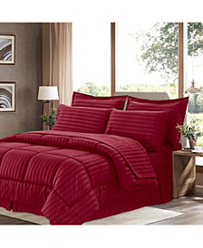 Sweet Home Collection Dobby Embossed Queen 8-Pc Comforter Set