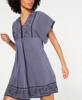06fbff963e488f MICHAEL Michael Kors Border-Print Wide-Sleeve Dress, In Regular and Petite